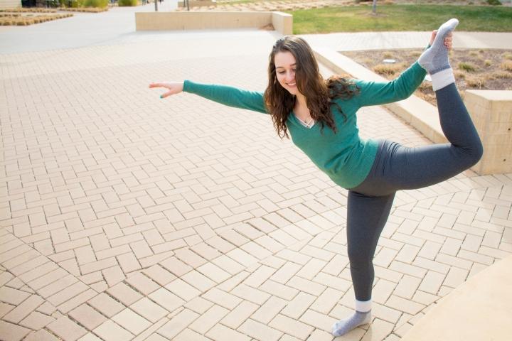 Finding the fun in yoga.