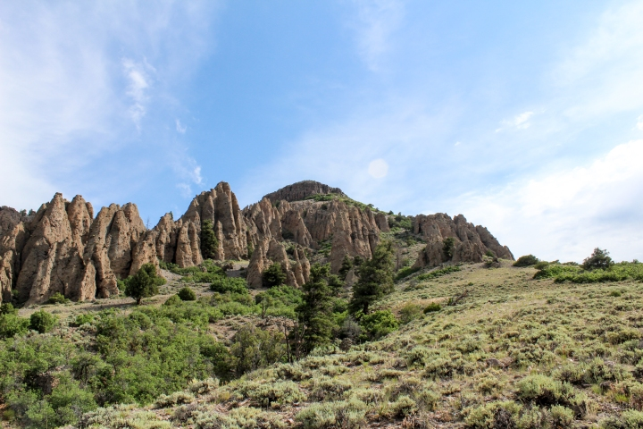 View of Dillion Pinnacles.