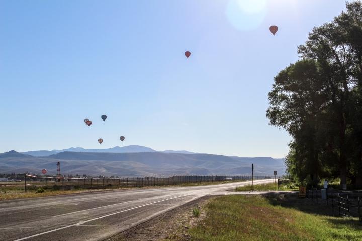 Balloon lift-off in Gunnison, Colorado.