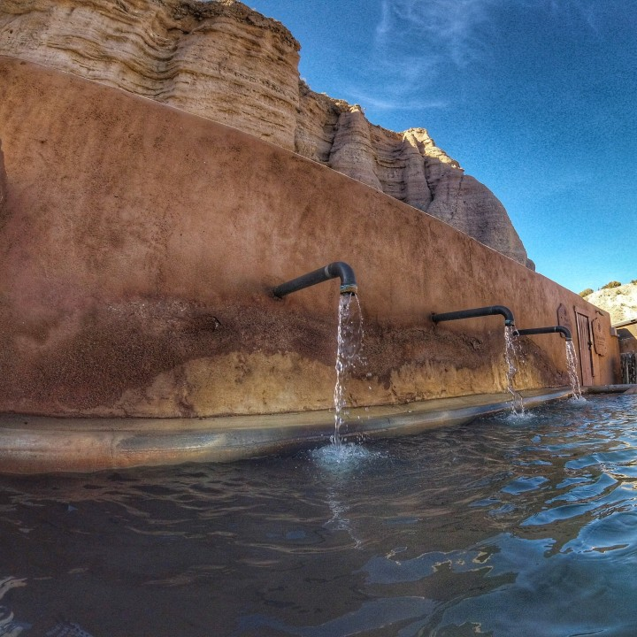 The Lithia pool at Ojo Caliente spa.