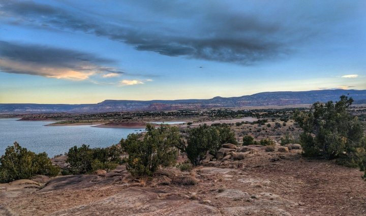 View of Abiquiu Lake just before sunrise.