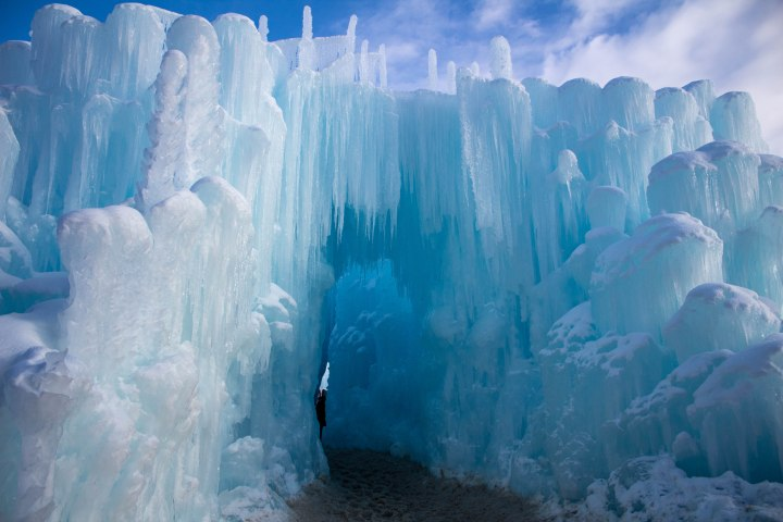 Entrance to the ice castles of Dillon, Colorado.