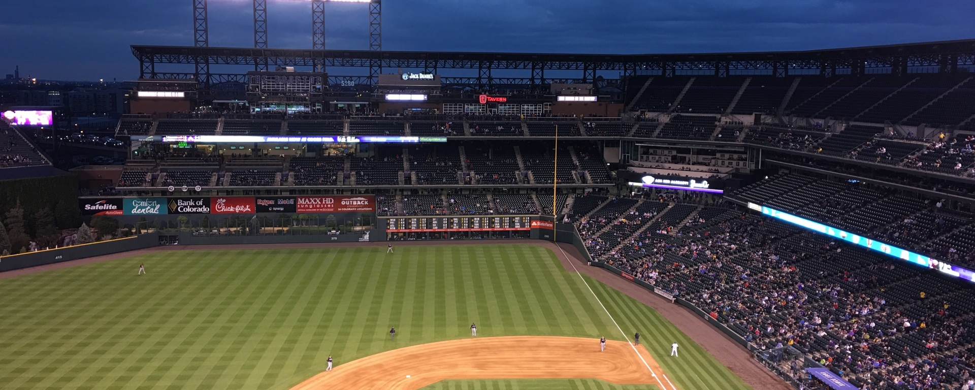 Watching the Rockies at Coors Field.