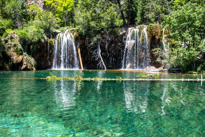 Hanging Lake is a protected ecosystem and as a result there is no swimming allowed.
