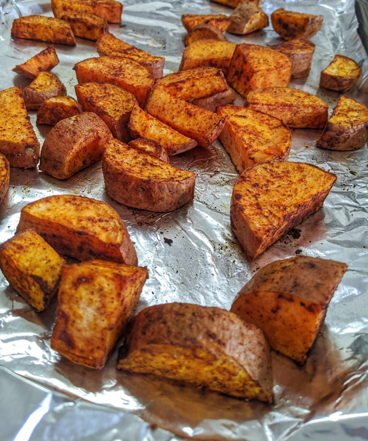 Bake sweet potatoes with spices for a more flavorful potato side dish this Thanksgiving.