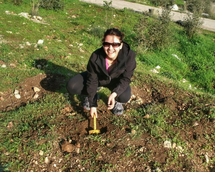 Planting a tree in Israel.