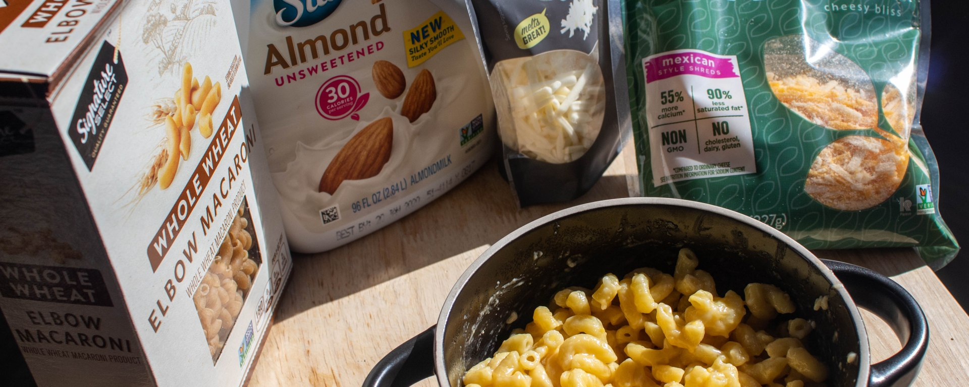 Consider trying vegan alternatives when making mac n' cheese.