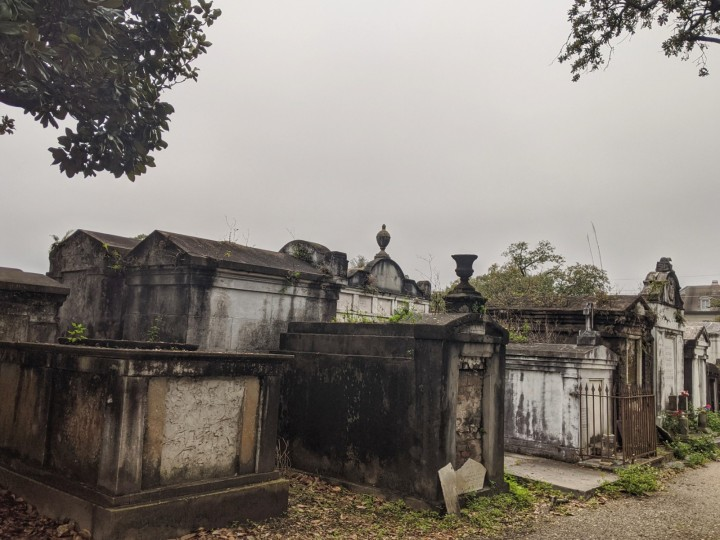 Above-ground tombs at Lafayette Cemetery No. 1.