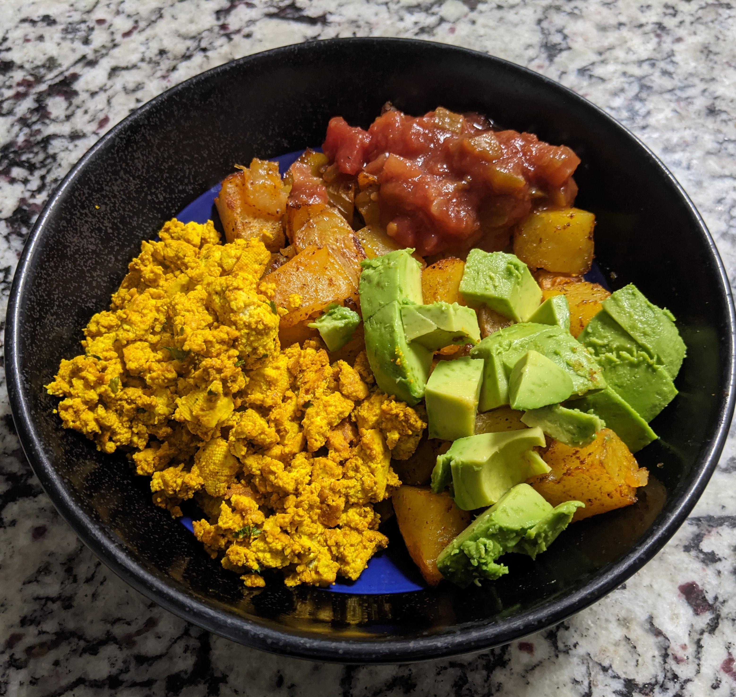 tofu scramble breakfast bowl